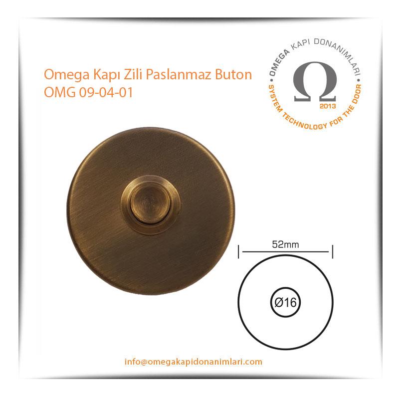 Omega Kapı Zili Paslanmaz Buton OMG 09-04-01