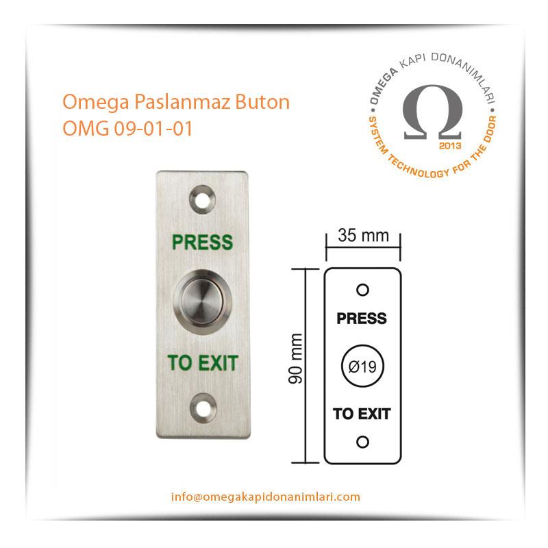 Omega Paslanmaz Buton OMG 09-01-01
