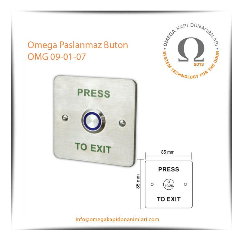 Omega Paslanmaz Buton OMG 09-01-07