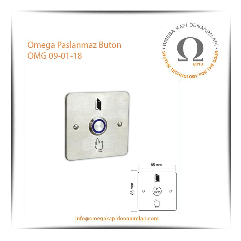 Omega Paslanmaz Buton OMG 09-01-18