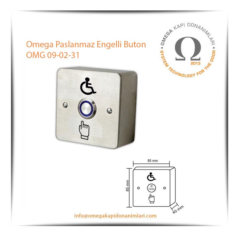 Omega Paslanmaz Engelli Buton OMG 09-02-31