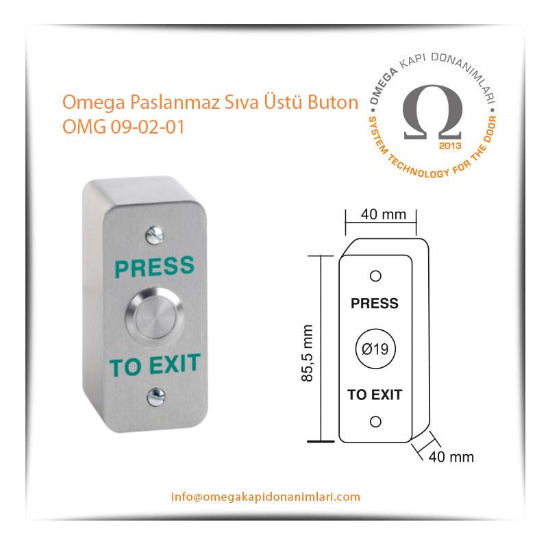 Omega Paslanmaz Sıva Üstü Buton OMG 09-02-01