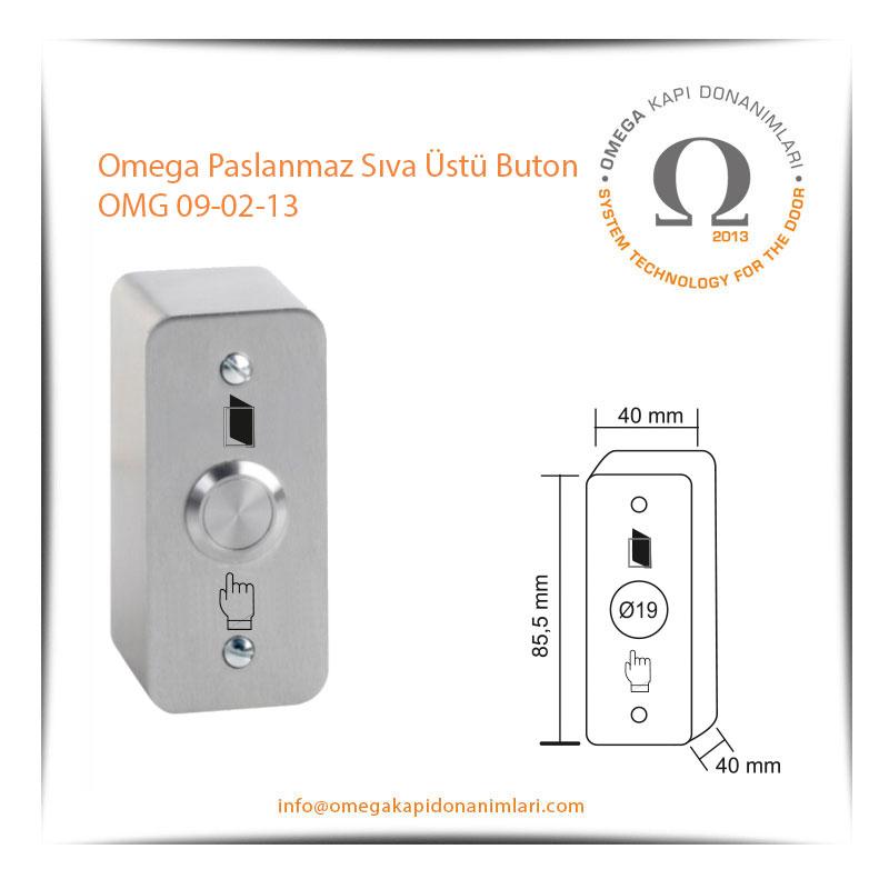 Omega Paslanmaz Sıva Üstü Buton OMG 09-02-13