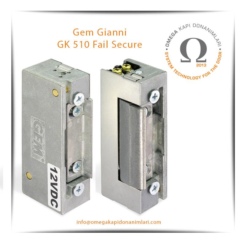 Gem Gianni GK 510 Fail Secure Elektrikli Kilit Karşılığı Bas Aç