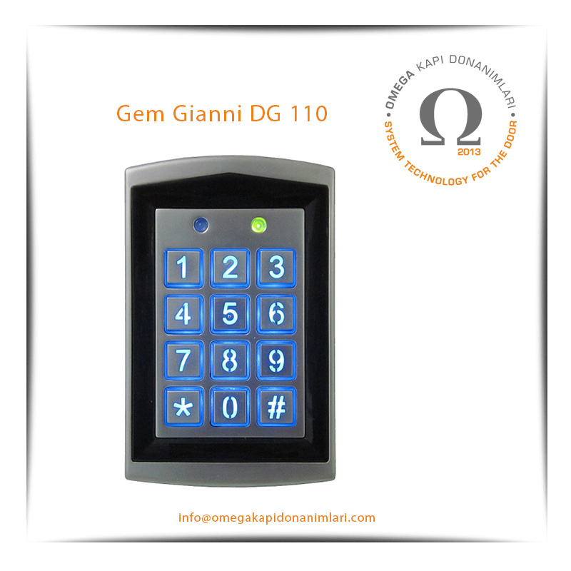 Gem Gianni DG 110 Geçiş Kontrol Sistemi