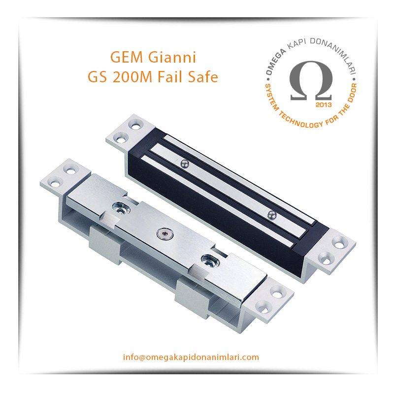 GEM Gianni GS 200M Fail Safe Shearmagnet Kilit